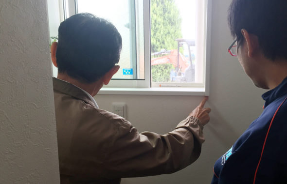 須坂市戸建て窓サッシ雨漏り散水&赤外線調査